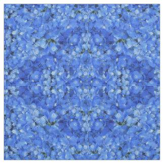 Bright Blue Hydrangea Floral Pattern Cloth