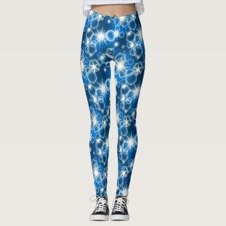Bright blue leggings