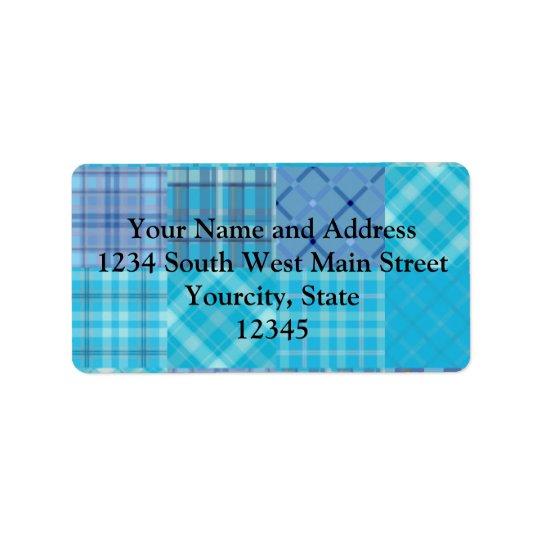 Bright Blue Madras Plaid Label