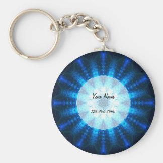 Bright Blue Mandala Keychain
