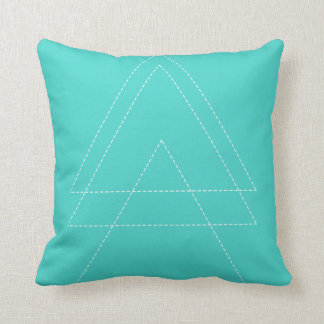 Bright Blue Modern Triangle Throw Pillow