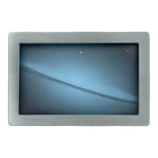 Bright Blue Nebula Galaxy Belt Buckle