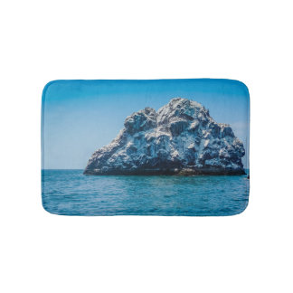 Bright Blue Ocean of Mazatlán Sinaloa Mexico Bathroom Mat