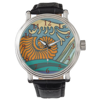Bright Blue Ocean Waves Watch
