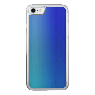 Bright Blue Ombre Watercolor Paint Carved iPhone 8/7 Case