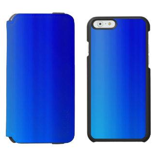 Bright Blue Ombre Watercolor Paint Incipio Watson™ iPhone 6 Wallet Case