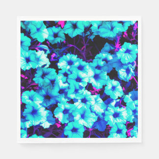 Bright Blue Petunias Paper Napkin