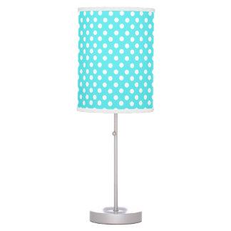 Bright Blue polka dot pattern Desk Lamps