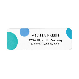 Bright Blue Polka Dot Return Address Labels