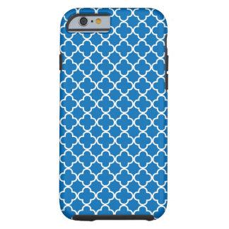 Bright Blue Quatrefoil Pattern Tough iPhone 6 Case