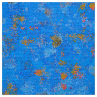 Bright blue sea sand abstract  pattern fabric
