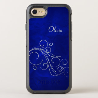 Bright Blue Silver Swirl OtterBox Symmetry iPhone 8/7 Case