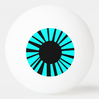 Bright Blue Simplistic Eyeball Good for Puppets Ping Pong Ball