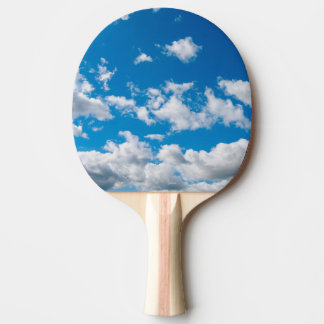 Bright Blue Sky Ping Pong Paddle