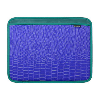 Bright blue snakeskin sleeve for MacBook air