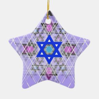 Bright Blue Star. Christmas Tree Ornament