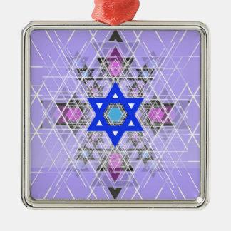 Bright Blue Star. Christmas Tree Ornaments