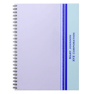 Bright blue stripe on pastel professional business notebooks