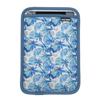 Bright Blue Tropical Watercolor Pattern iPad Mini Sleeve