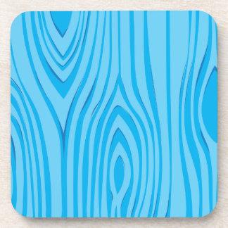 Bright Blue Wood Grain Vector Coaster