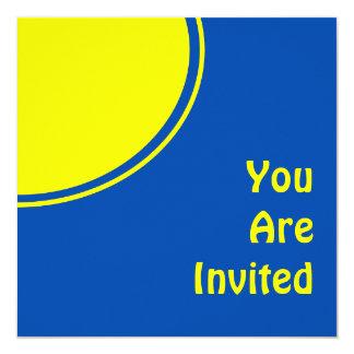 Bright Blue Yellow Mod Party Invite