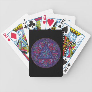 Bright Bohemian Boho Hippy Chic Pattern Bicycle Playing Cards