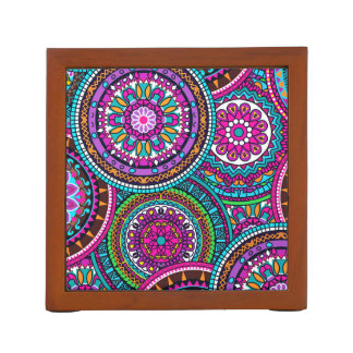 Bright Bohemian Boho Hippy Chic Pattern Desk Organizer