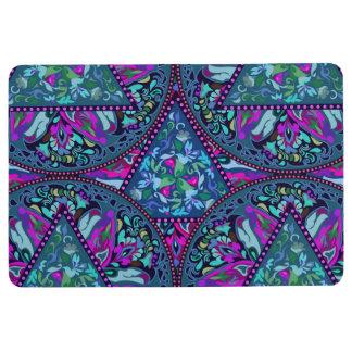 Bright Bohemian Boho Hippy Chic Pattern Floor Mat