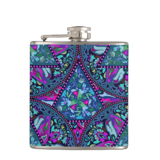 Bright Bohemian Boho Hippy Chic Pattern Hip Flask