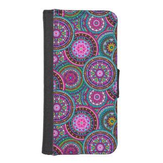 Bright Bohemian Boho Hippy Chic Pattern iPhone SE/5/5s Wallet Case