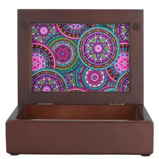 Bright Bohemian Boho Hippy Chic Pattern Keepsake Box