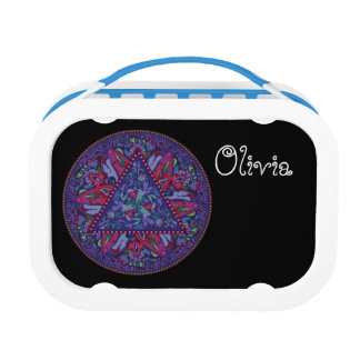 Bright Bohemian Boho Hippy Chic Pattern Lunch Box