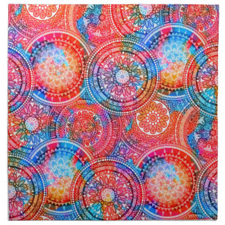 Bright Bohemian Boho Hippy Chic Pattern Napkin
