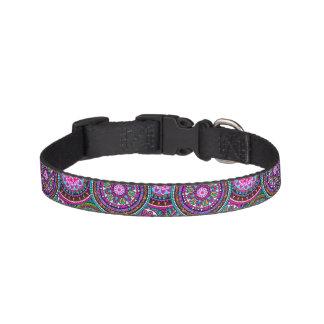 Bright Bohemian Boho Hippy Chic Pattern Pet Collar