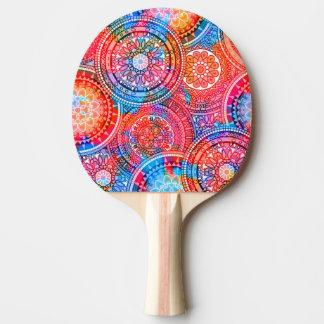 Bright Bohemian Boho Hippy Chic Pattern Ping Pong Paddle