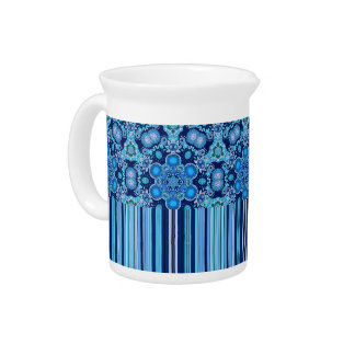 Bright Bohemian Boho Hippy Chic Pattern Pitcher