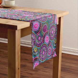 Bright Bohemian Boho Hippy Chic Pattern Short Table Runner