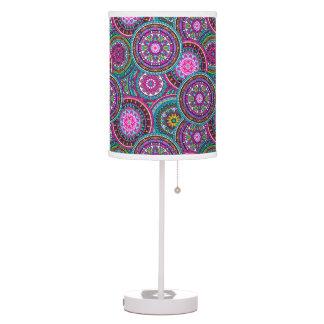Bright Bohemian Boho Hippy Chic Pattern Table Lamp