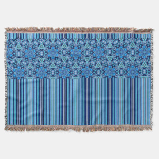 Bright Bohemian Boho Hippy Chic Pattern Throw Blanket