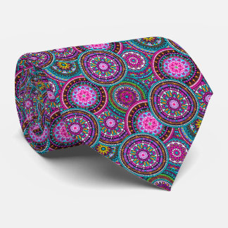 Bright Bohemian Boho Hippy Chic Pattern Tie