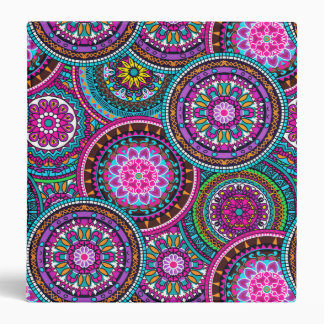 Bright Bohemian Boho Hippy Chic Pattern Vinyl Binder