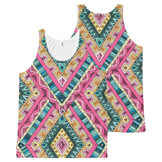 Bright Boho Colorful abstract tribal pattern All-Over-Print Tank Top