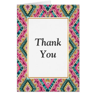 Bright Boho Colorful abstract tribal pattern Card