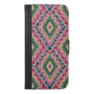 Bright Boho Colorful abstract tribal pattern iPhone 6/6s Plus Wallet Case