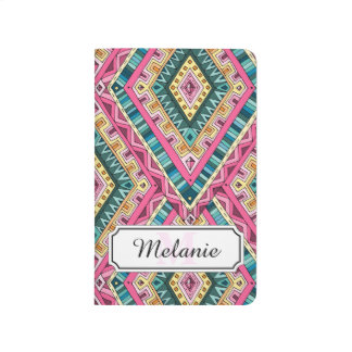Bright Boho Colorful abstract tribal pattern Journal