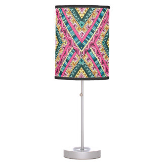 Bright Boho Colorful abstract tribal pattern Table Lamp