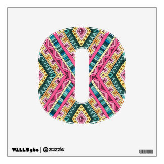 Bright Boho Colorful abstract tribal pattern Wall Sticker