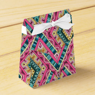 Bright Boho Colorful abstract tribal pattern Wedding Favor Boxes
