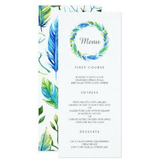 Bright Boho | Modern Wedding Menu Card