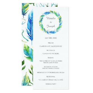 Bright Boho | Modern Wedding Program